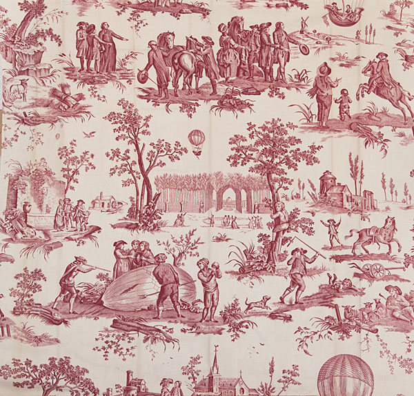 la toile de jouy un fabuleux r pertoire de motifs l 39 exemple du ballon de gonesse. Black Bedroom Furniture Sets. Home Design Ideas
