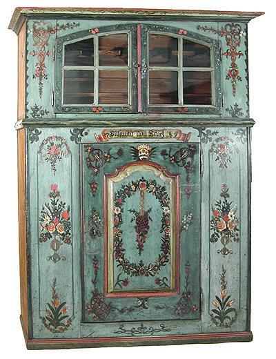 meubles peints anciens de suisse. Black Bedroom Furniture Sets. Home Design Ideas