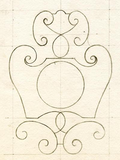 peindre un motif de ferronnerie du xviie si cle