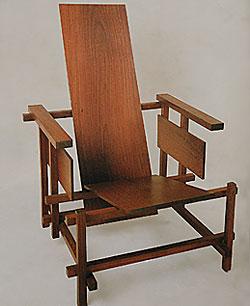 la chaise rouge et bleue de gerrit rietveld. Black Bedroom Furniture Sets. Home Design Ideas